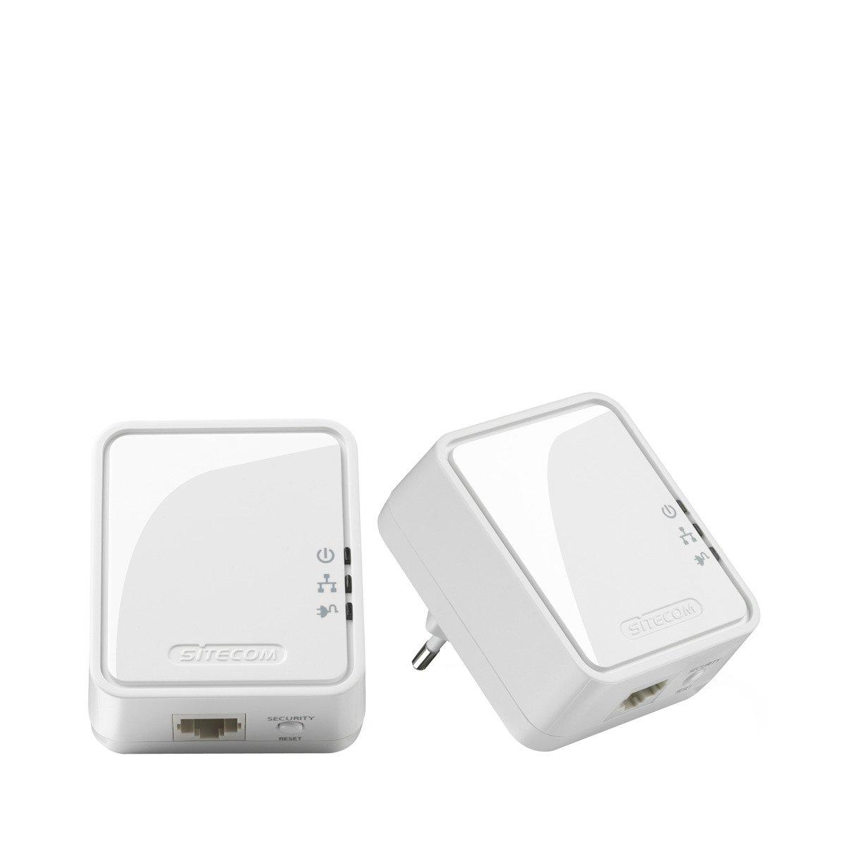 Kit adaptadores PLC Sitecom Mini Homeplug LN-551 500 Mbps