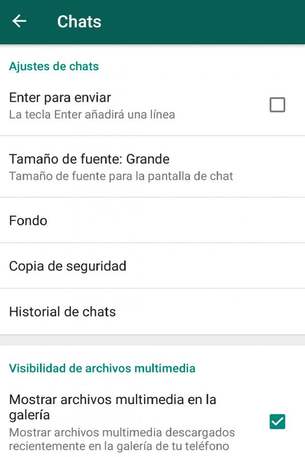 guardar WhatsApp