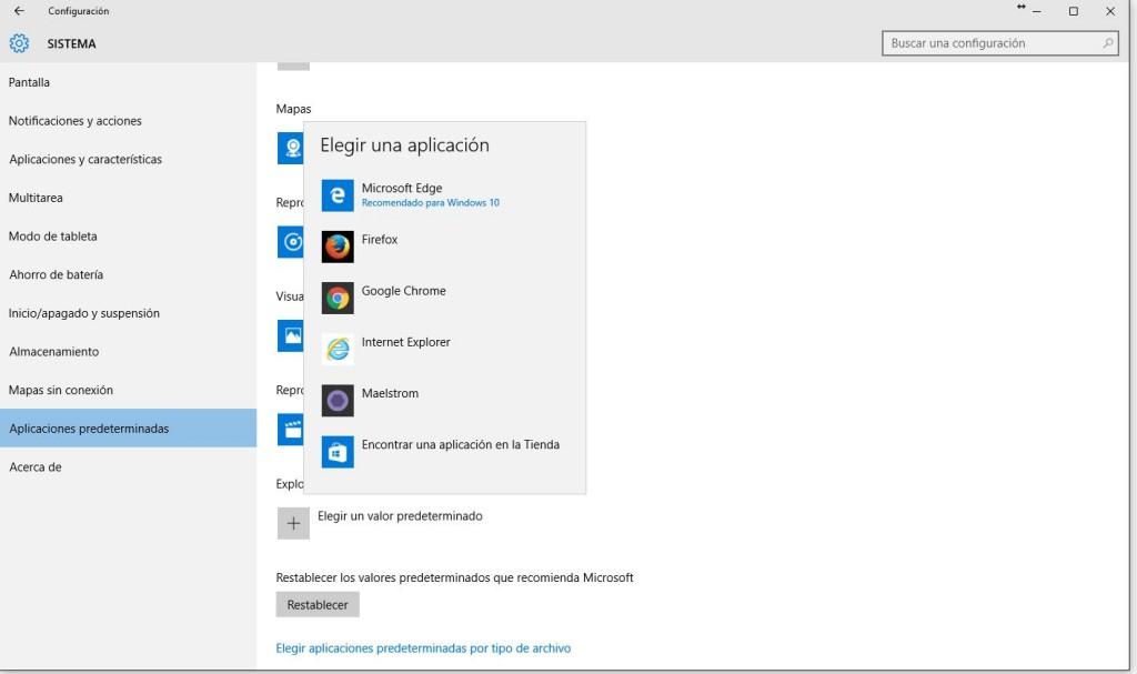 elegir navegador