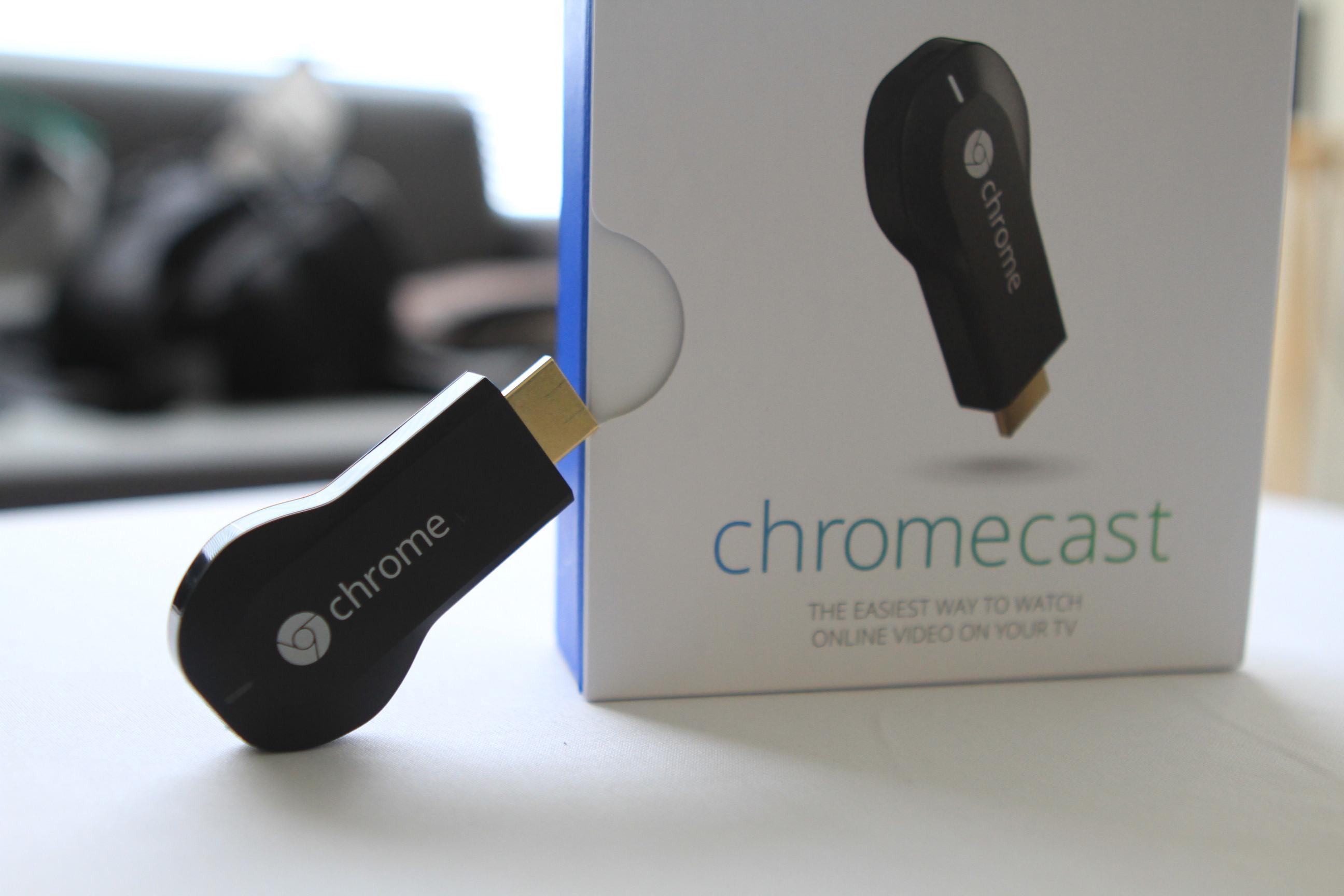 chromecast y caja