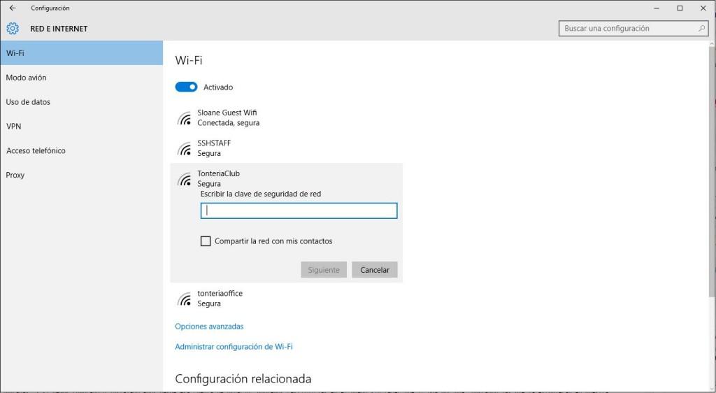 configurar red wifi