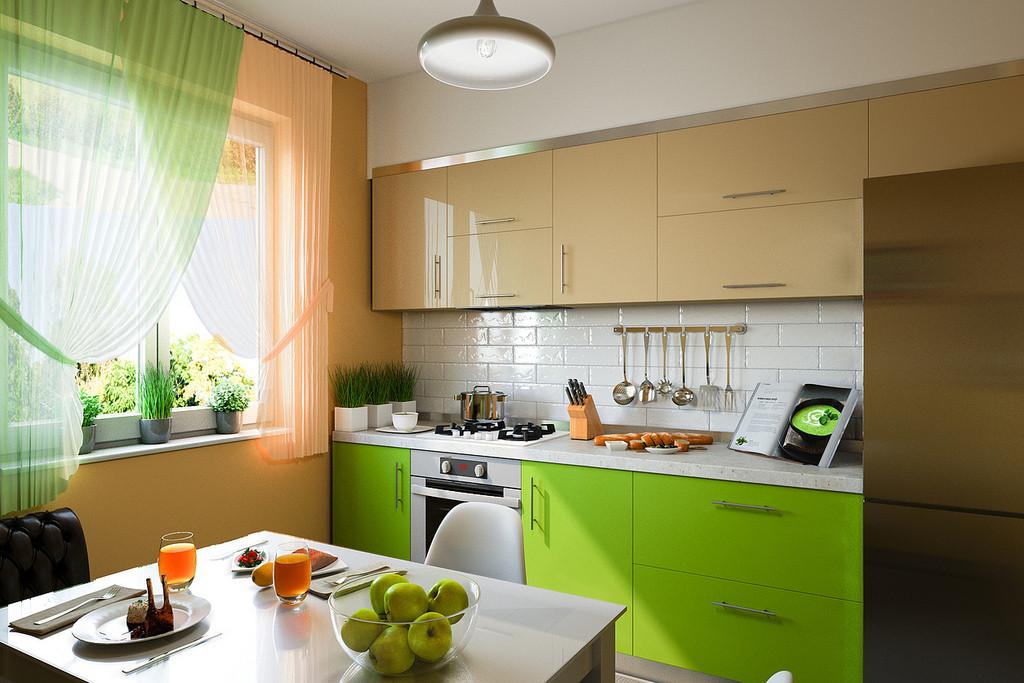 Nevera en una cocina pequeña