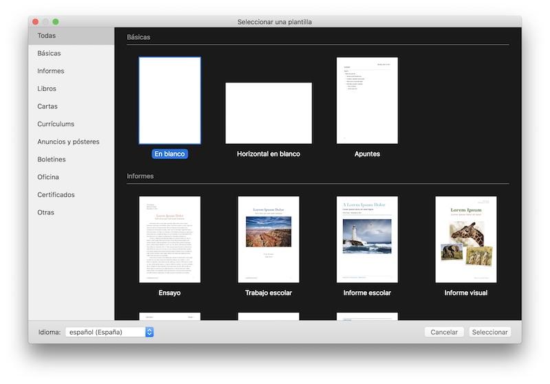 utilizar Pages Mac