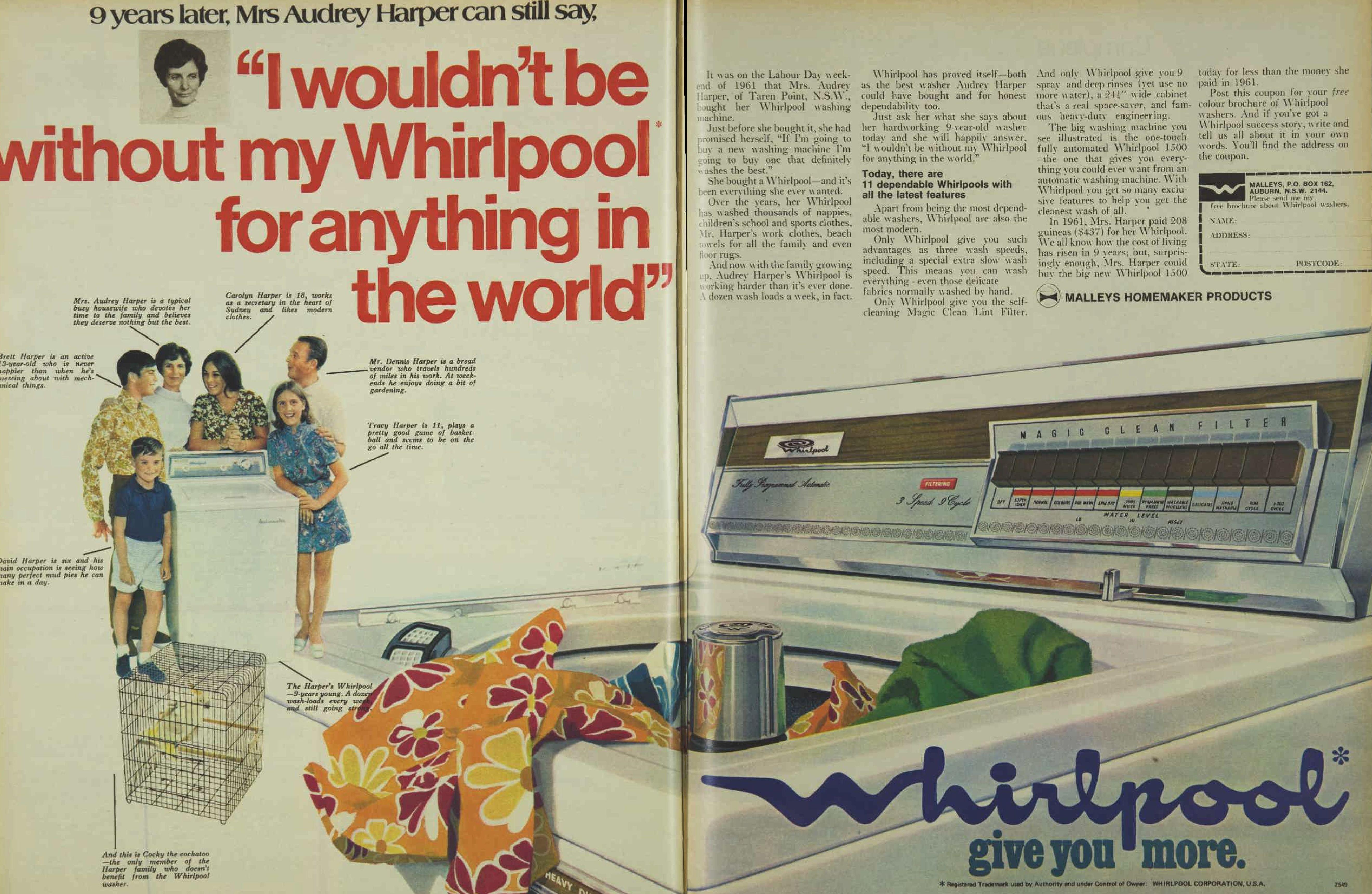 Publicidad de lavadora