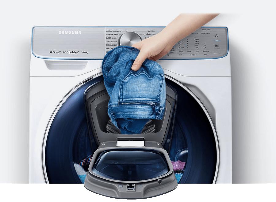 Lavadora con Add Wash