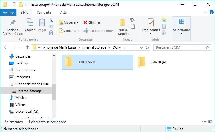 PASAR FOTOS IPHONE A PC
