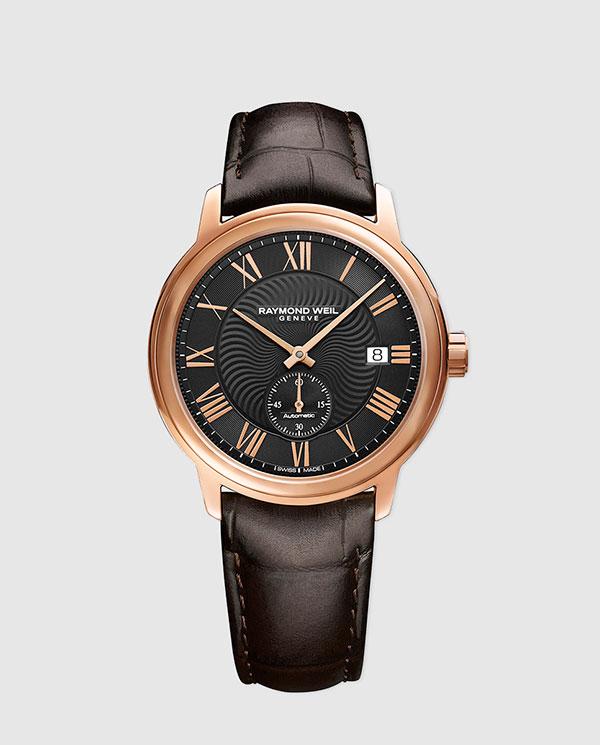 94cb8d32ff89 Reloj de hombre Raymond Weil Maestro 2238 -PC5-00209 automático de piel  marrón