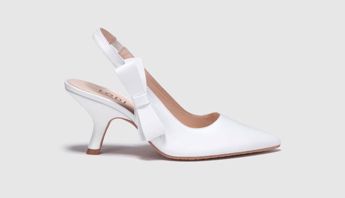 f7dbd327a2e40 Zapatos de salón de novia de mujer Lodi en piel de color blanco