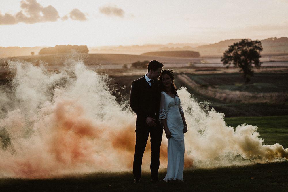 bombas de humo boda