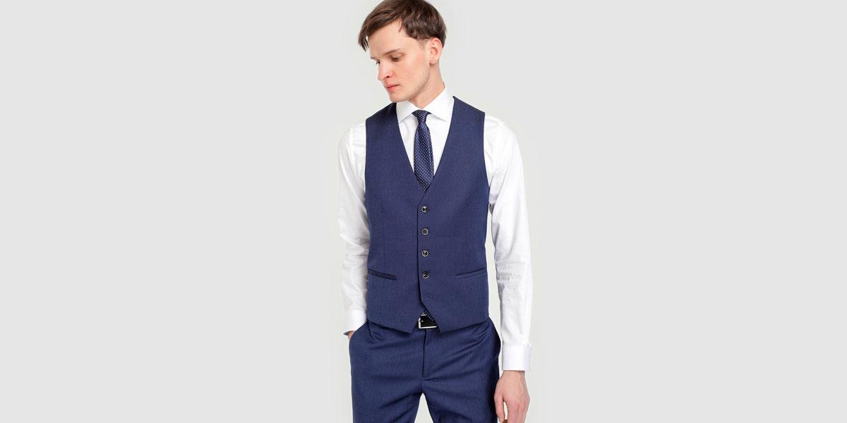 d8672f9748b57 Chaleco de traje de hombre Fórmula Joven azul · Fórmula Joven · Moda · El  Corte Inglés