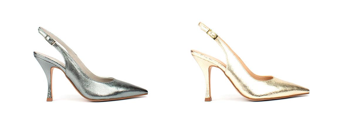 ab2cff701bed Zapatos de salón de mujer de Pedro Miralles de napa color plata
