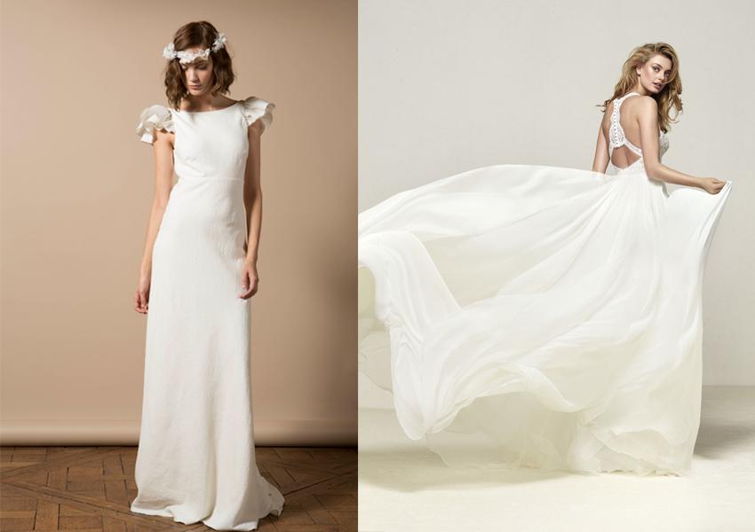 los tejidos más adecuados para tu vestido de novia - bodamás