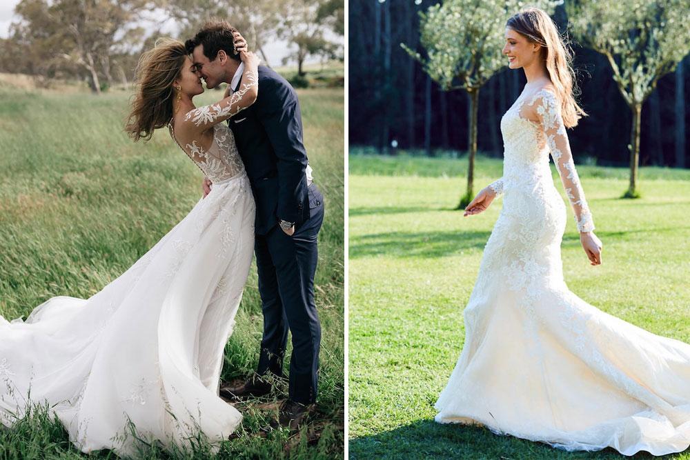 Vestidos manga francesa para boda