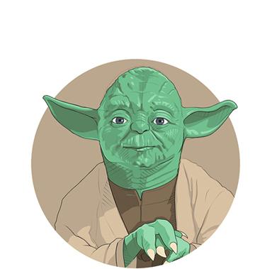 Delantal friki Delantal frase Yoda Premium. Regalo Star Wars fan art Yoda