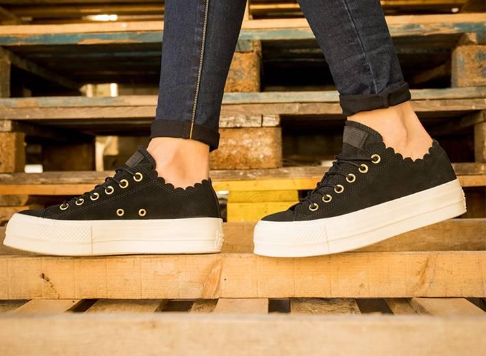 e1d60a1f Zapatillas casual de mujer Chuck Taylor All Star baja de lona EVA Layers  Plataforma Converse
